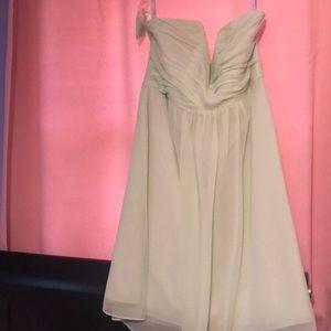 Pistachio colored formal dress